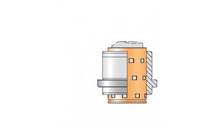 Bague complète N065R cage rouleaux N911